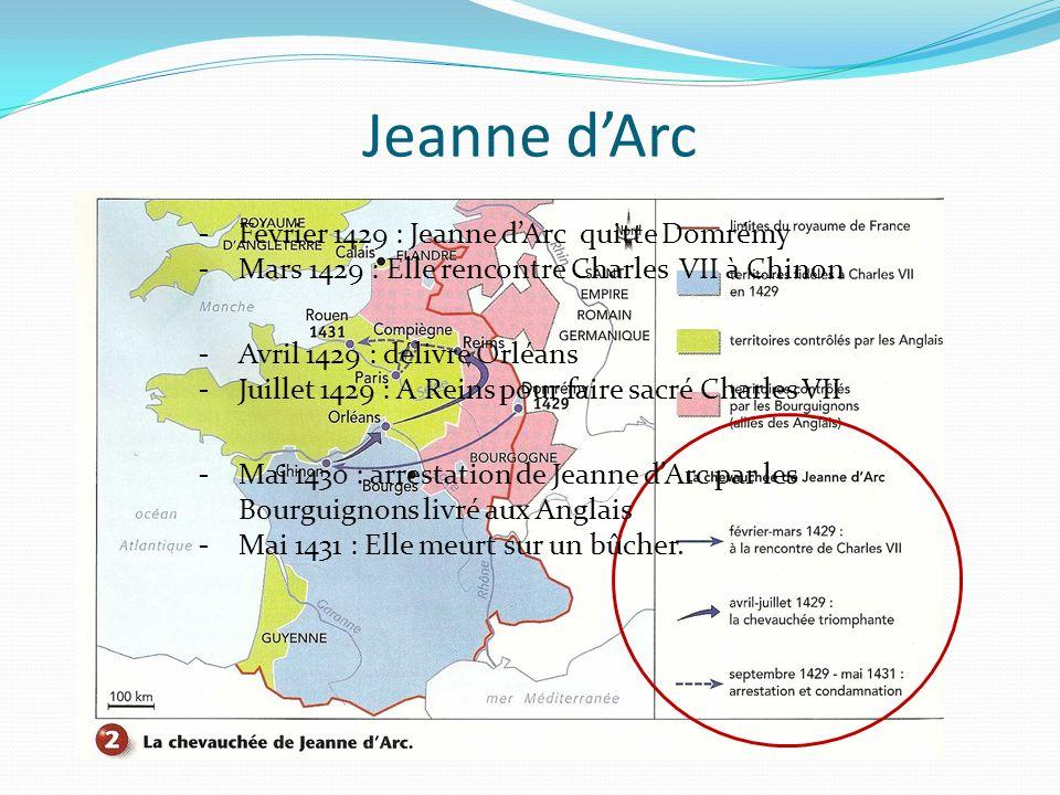 Jeanne d'Arc -1429 Jeanne d'Arc quitte Domrémy.