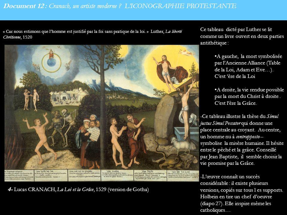 Document 12 : Cranach, un artiste moderne L'ICONOGRAPHIE PROTESTANTE