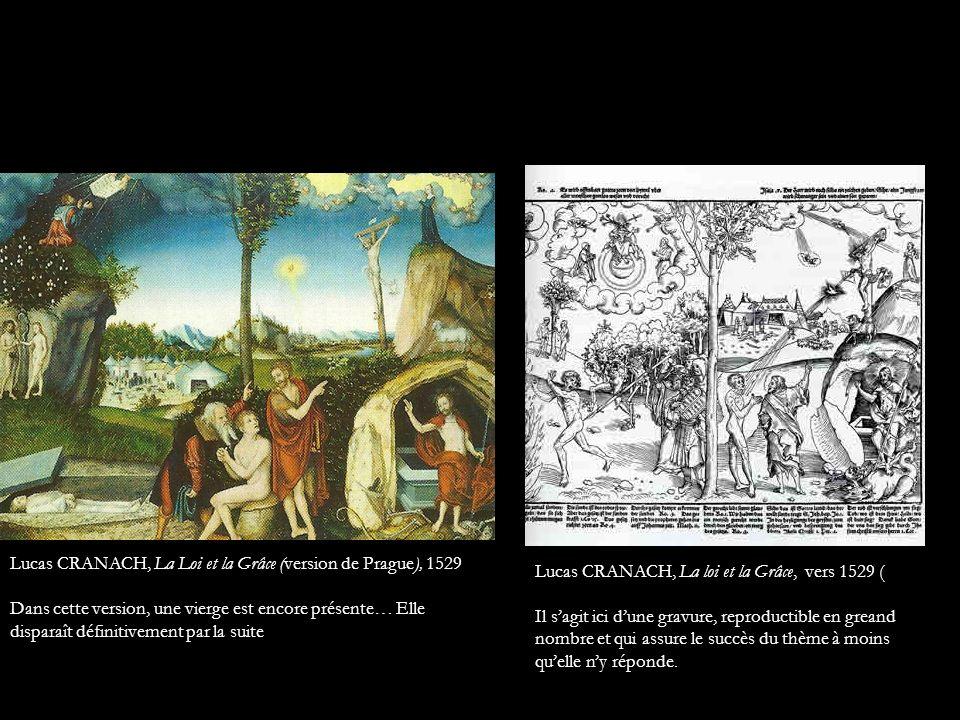 Lucas CRANACH, La Loi et la Grâce (version de Prague), 1529