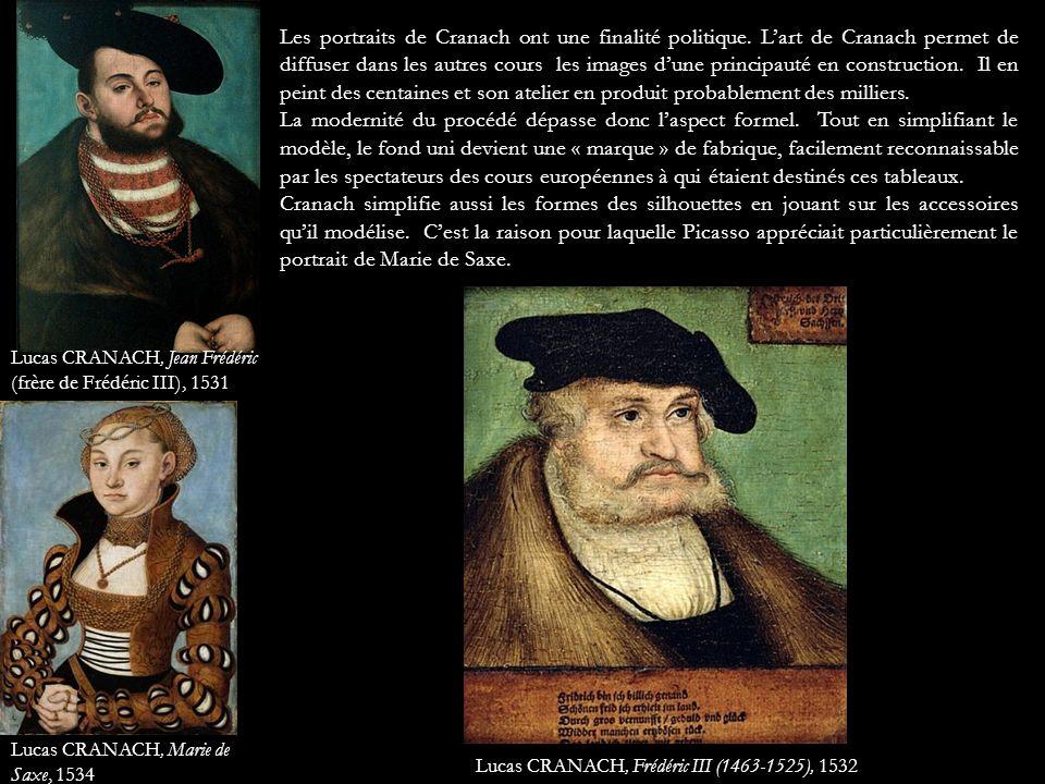Les portraits de Cranach ont une finalité politique