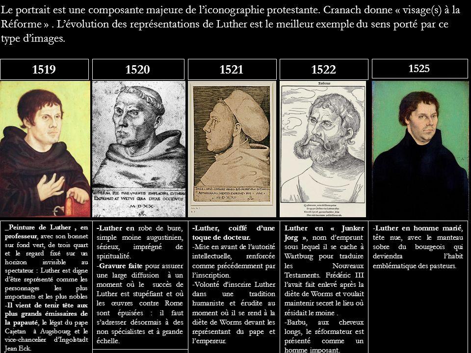Le portrait est une composante majeure de l'iconographie protestante