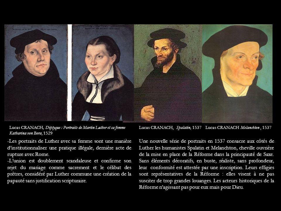 Lucas CRANACH, Diptyque : Portraits de Martin Luther et sa femme Katharina von Bora, 1529