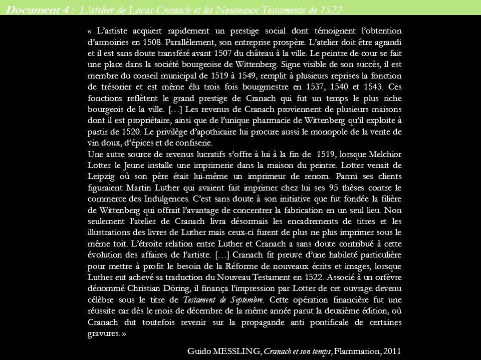 Document 4 : L'atelier de Lucas Cranach et les Nouveaux Testaments de 1522