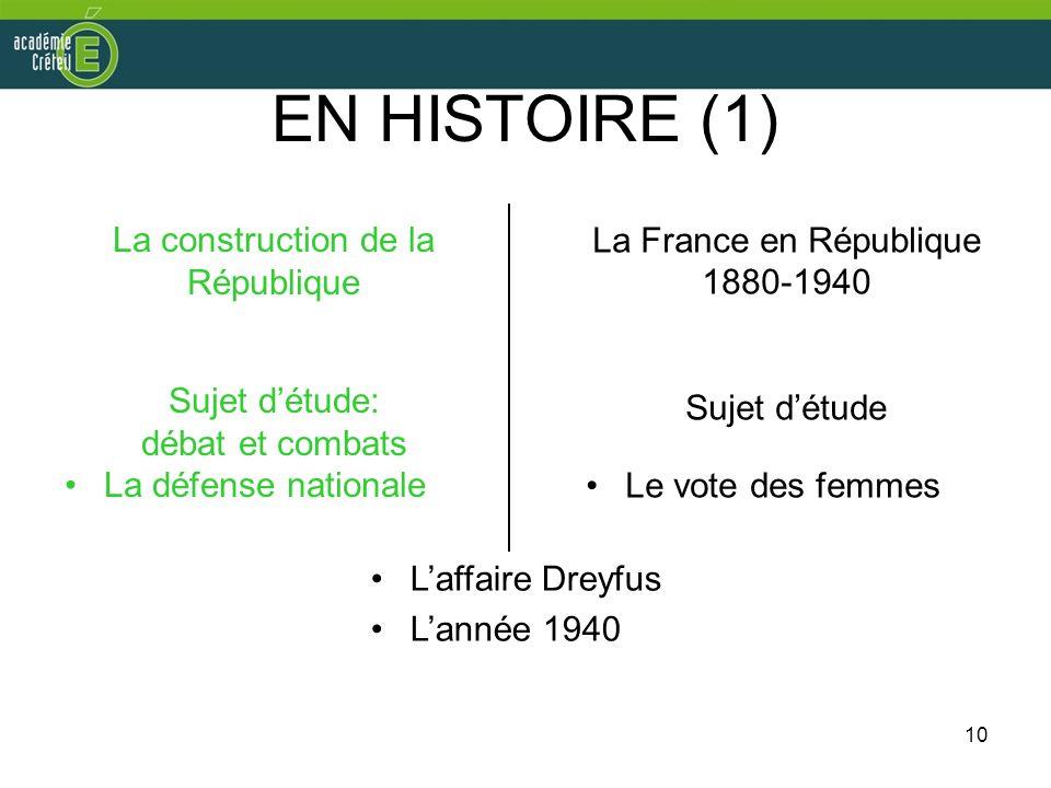 La France en République