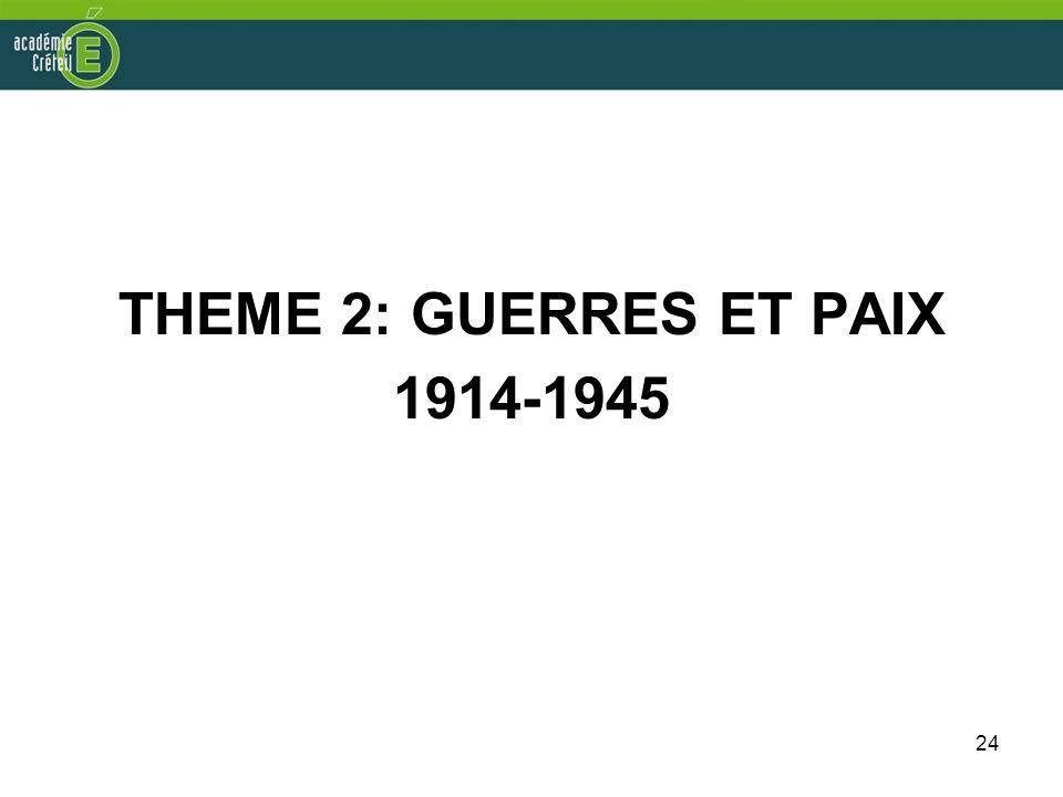 THEME 2: GUERRES ET PAIX 1914-1945