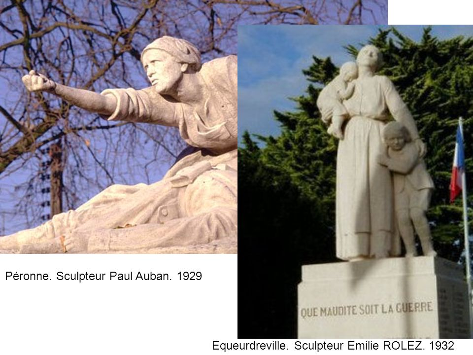 Péronne. Sculpteur Paul Auban. 1929