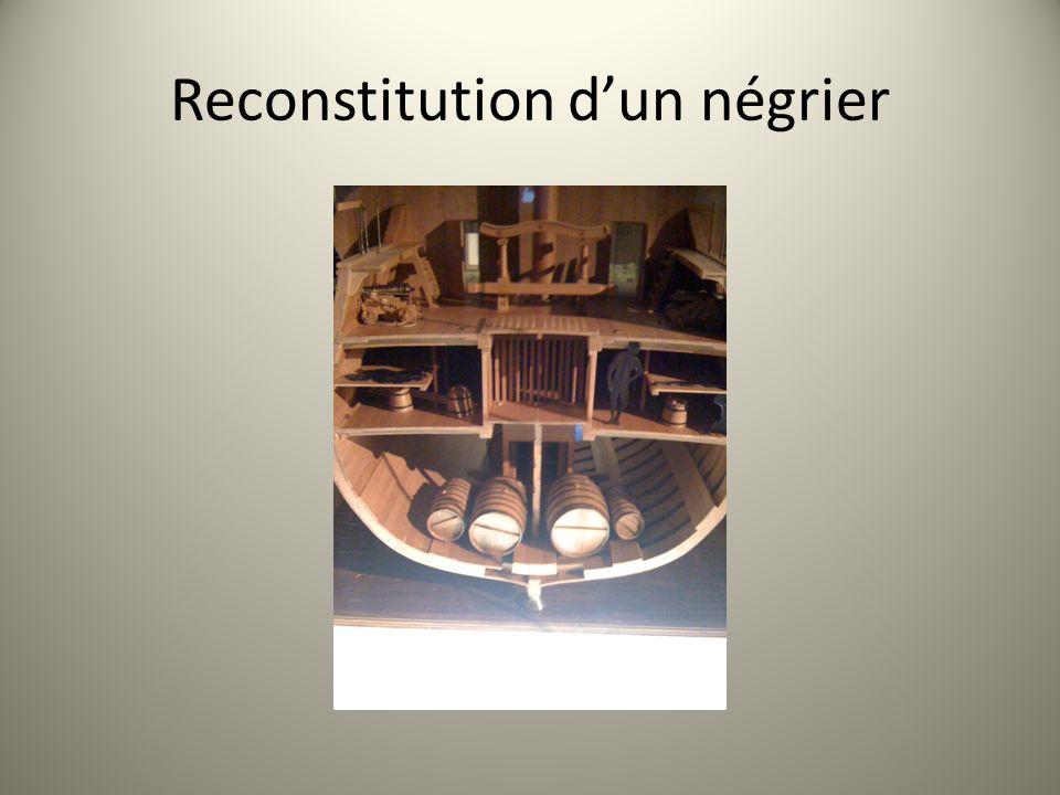 Reconstitution d'un négrier