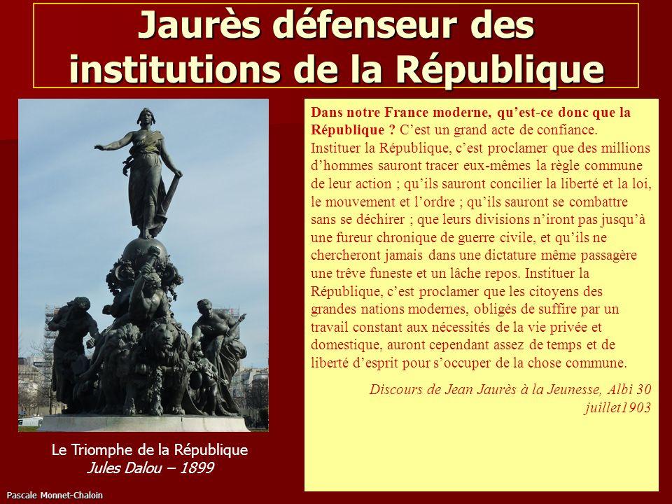 Jaurès défenseur des institutions de la République