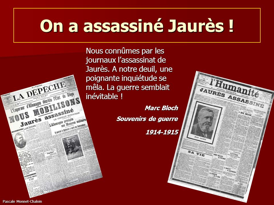 On a assassiné Jaurès !