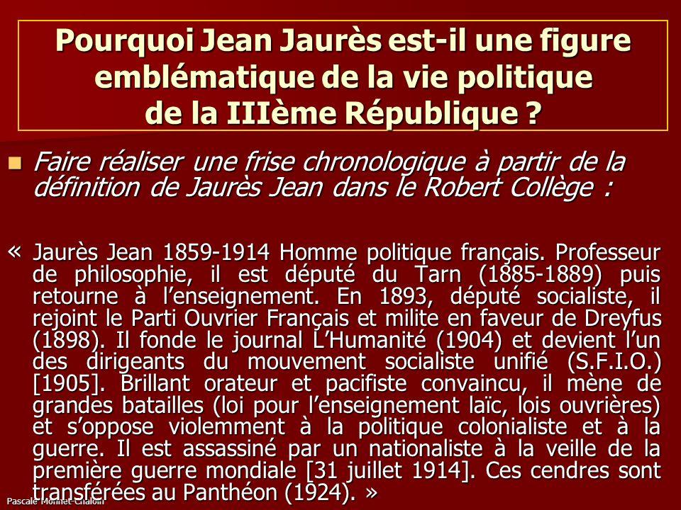 Pourquoi Jean Jaurès est-il une figure emblématique de la vie politique de la IIIème République