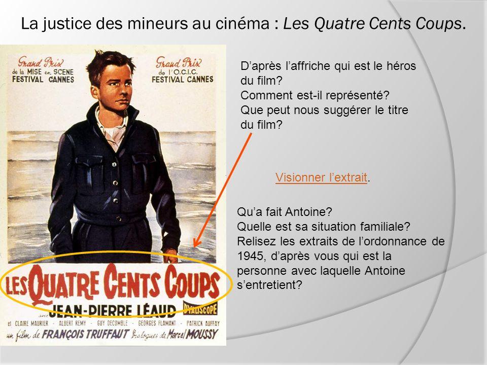 La justice des mineurs au cinéma : Les Quatre Cents Coups.