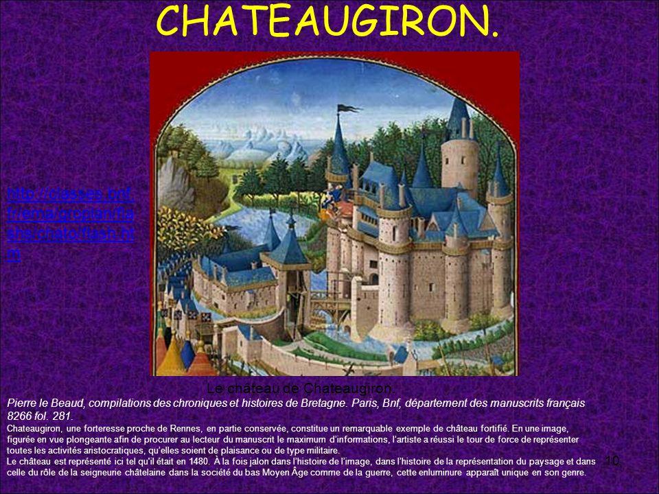 Le château de Chateaugiron.