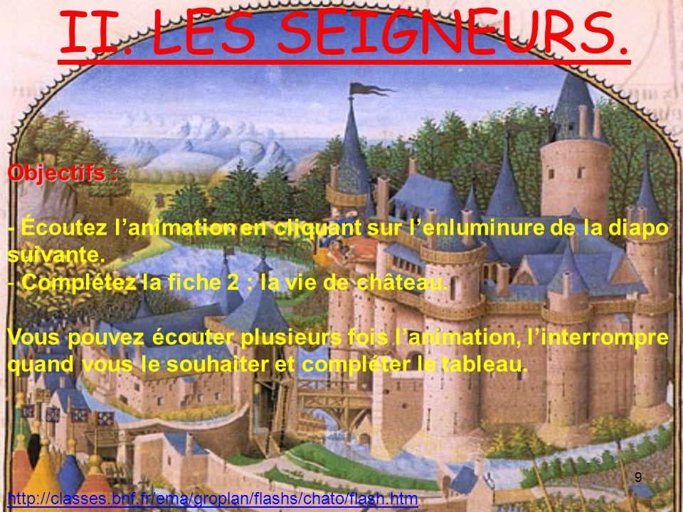 II. LES SEIGNEURS. Objectifs :