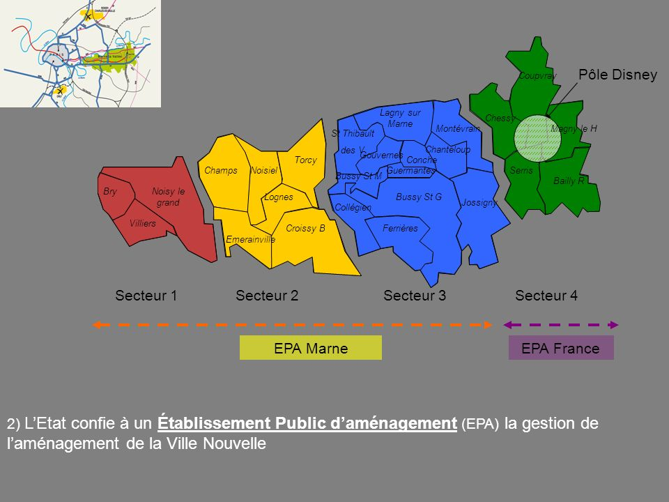 Pôle Disney Secteur 1 Secteur 2 Secteur 3 Secteur 4 EPA Marne