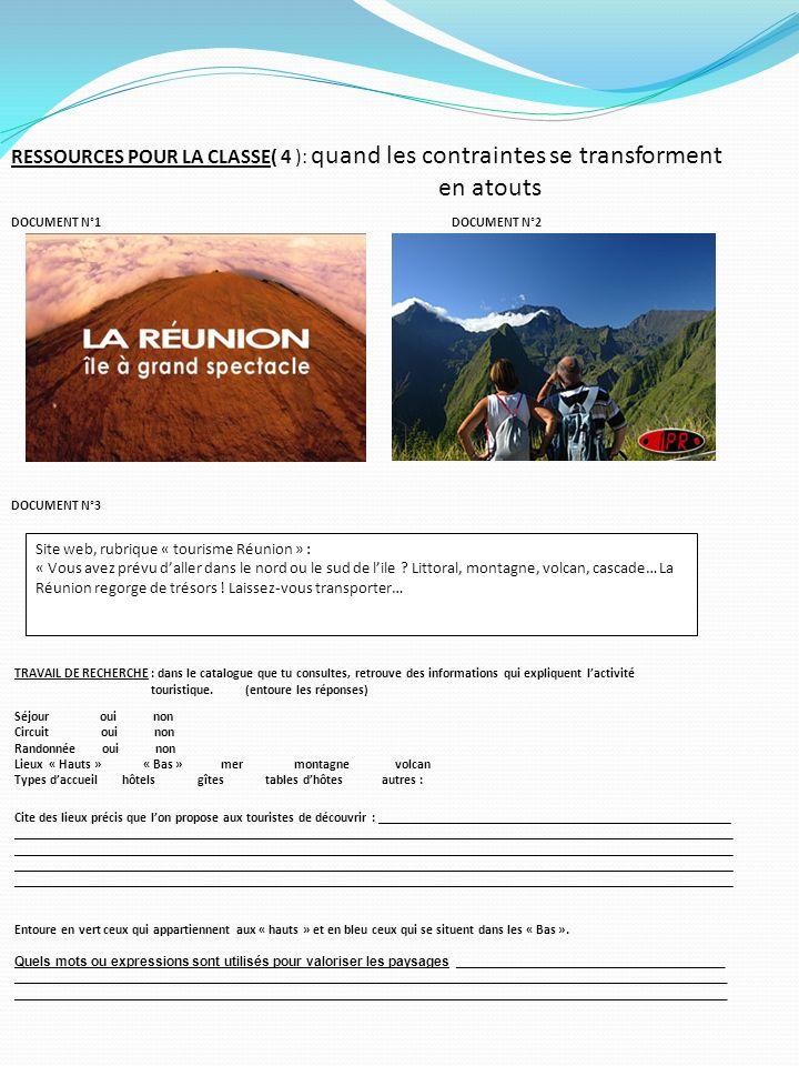 RESSOURCES POUR LA CLASSE( 4 ): quand les contraintes se transforment