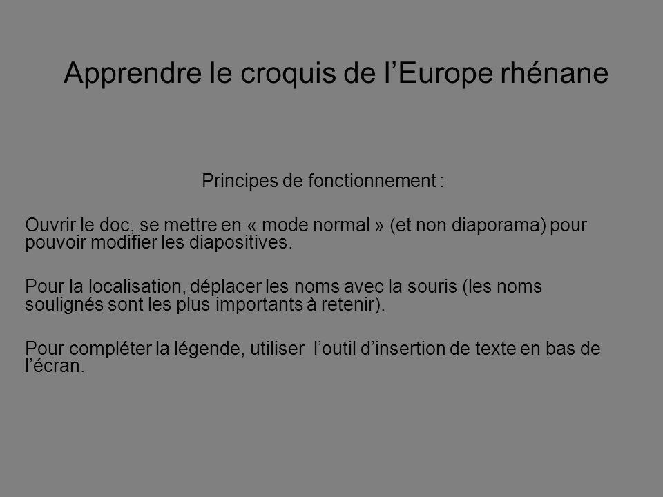 Apprendre le croquis de l'Europe rhénane
