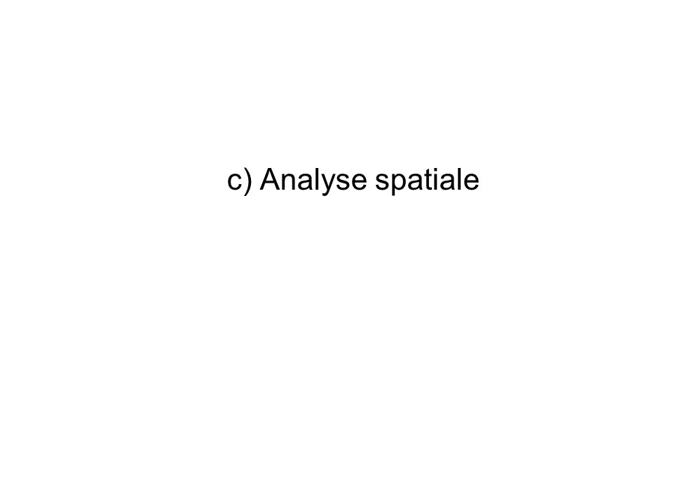 c) Analyse spatiale
