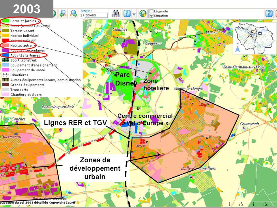 Centre commercial « Val d'Europe » Zones de développement urbain