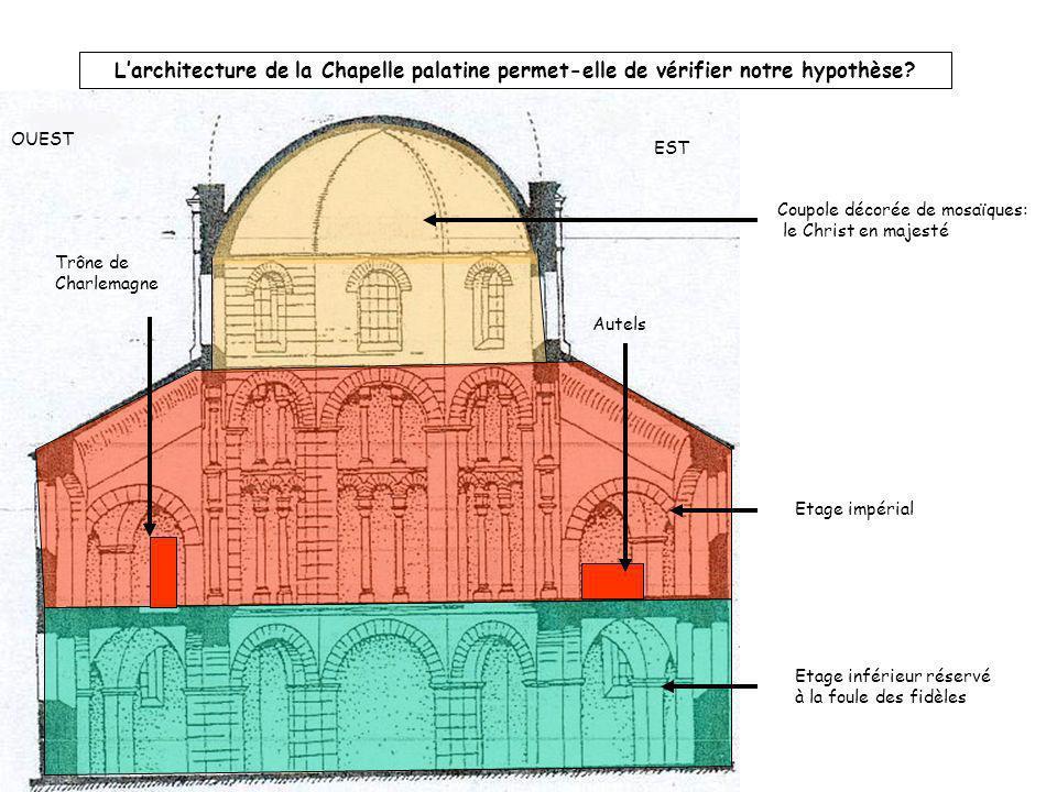 L'architecture de la Chapelle palatine permet-elle de vérifier notre hypothèse