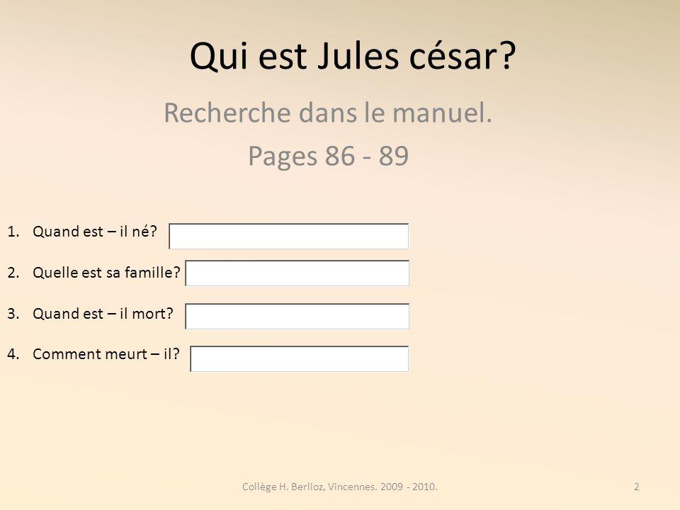 Recherche dans le manuel. Pages 86 - 89