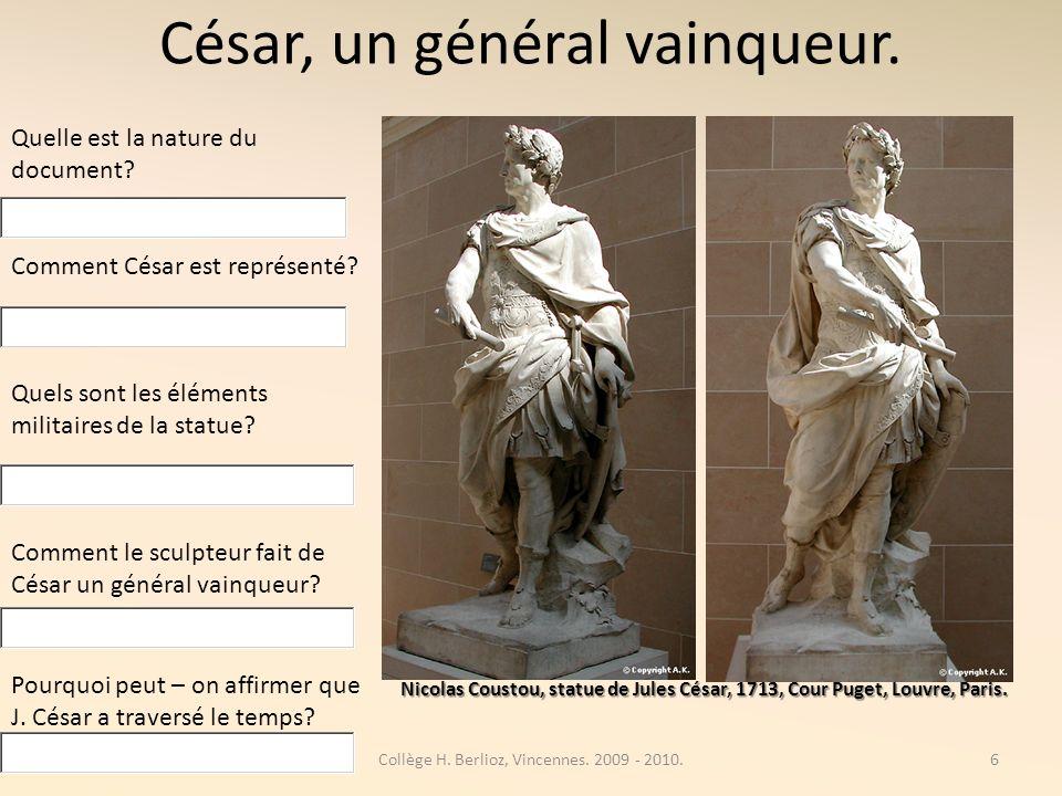 César, un général vainqueur.