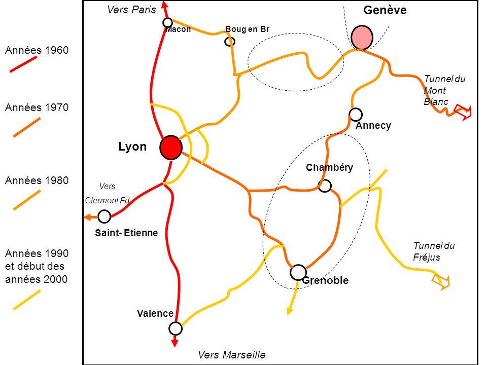 Genève Lyon Vers Paris Années 1960 Années 1970 Années 1980