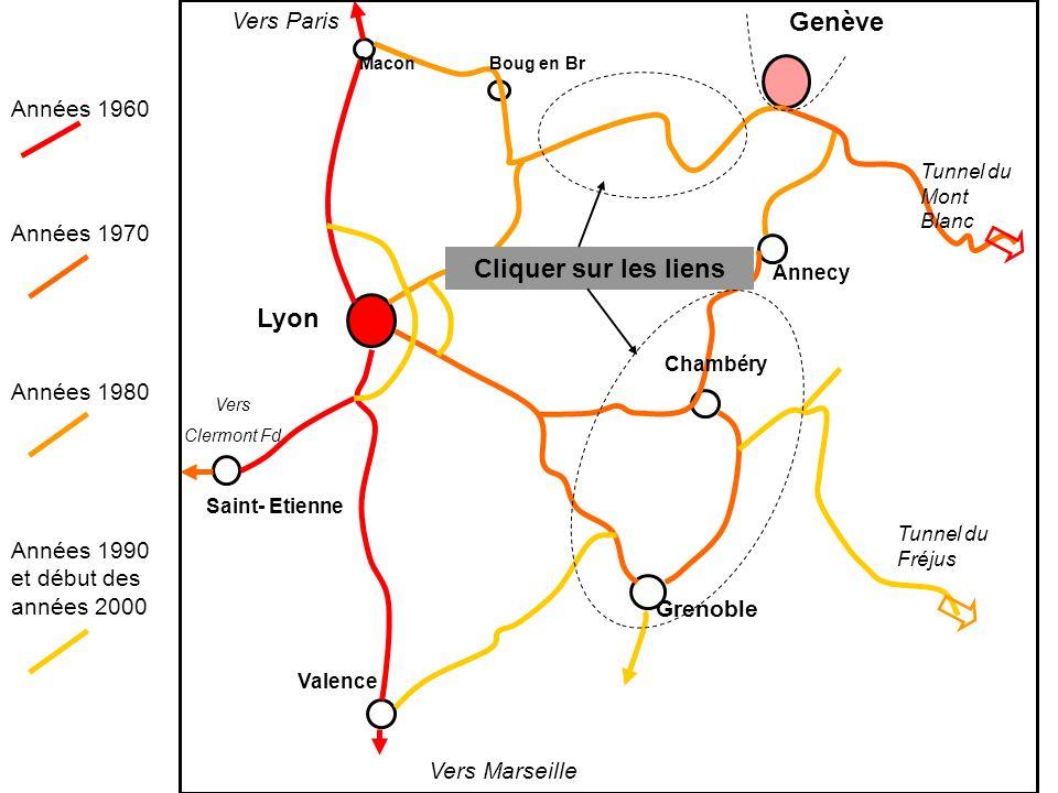 Genève Cliquer sur les liens Lyon Vers Paris Années 1960 Années 1970