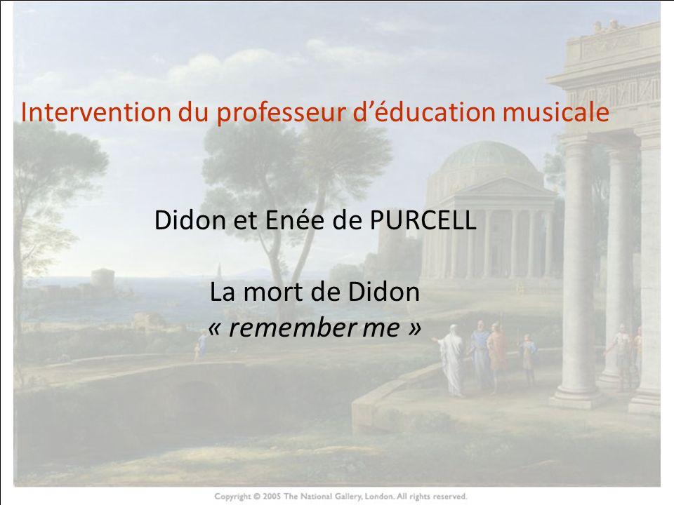 HISTOIRE DES ARTS Intervention du professeur d'éducation musicale