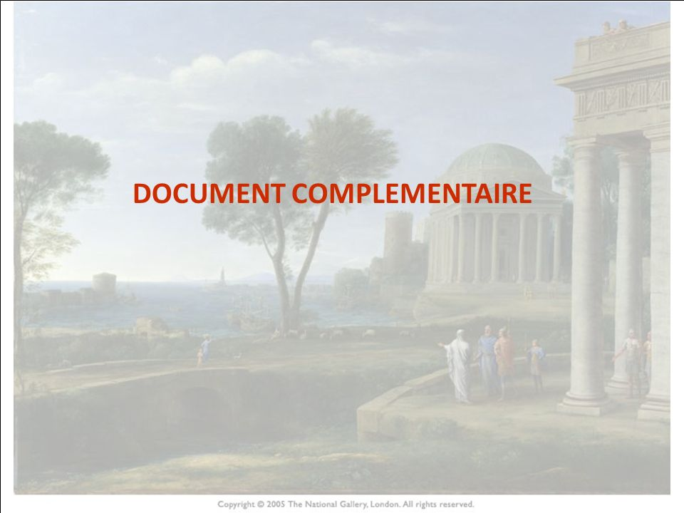 DOCUMENT COMPLEMENTAIRE