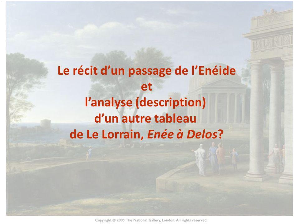 HISTOIRE DES ARTS Le récit d'un passage de l'Enéide et