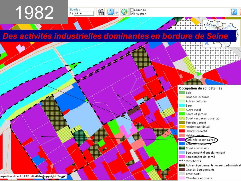1982 Des activités industrielles dominantes en bordure de Seine