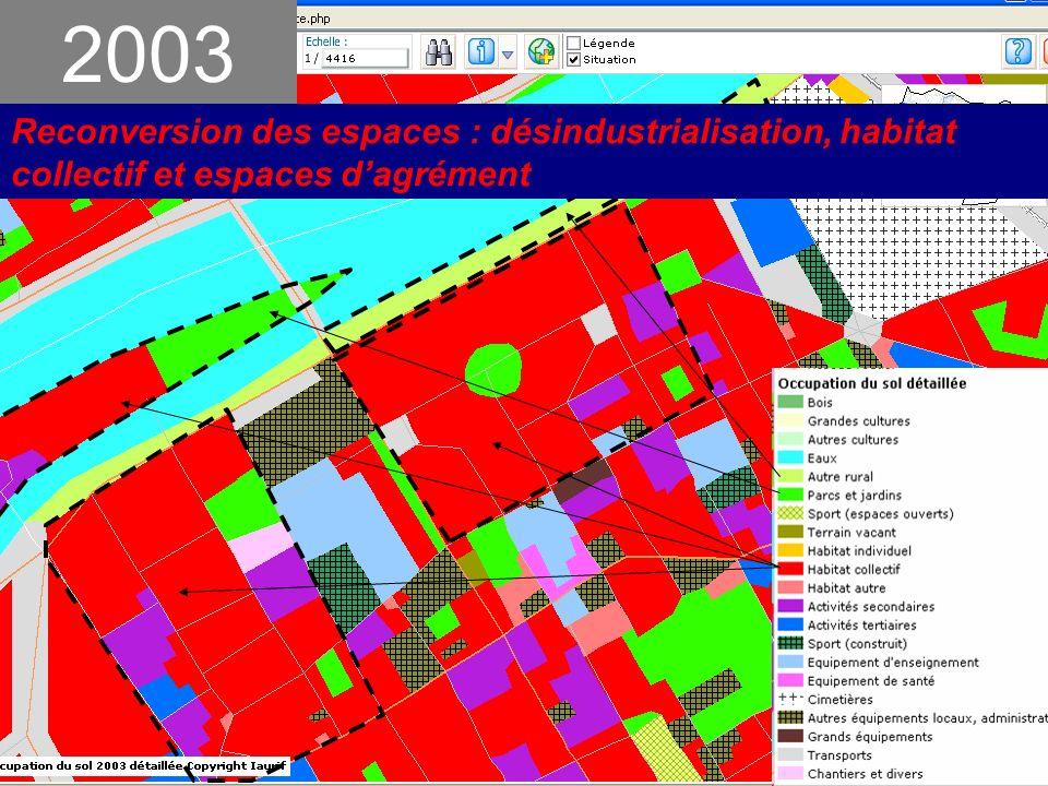 2003 Reconversion des espaces : désindustrialisation, habitat collectif et espaces d'agrément