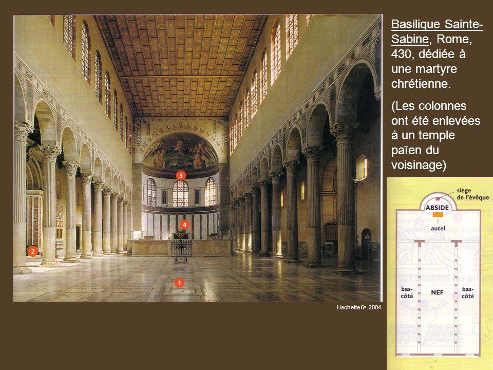 Basilique Sainte-Sabine, Rome, 430, dédiée à une martyre chrétienne.