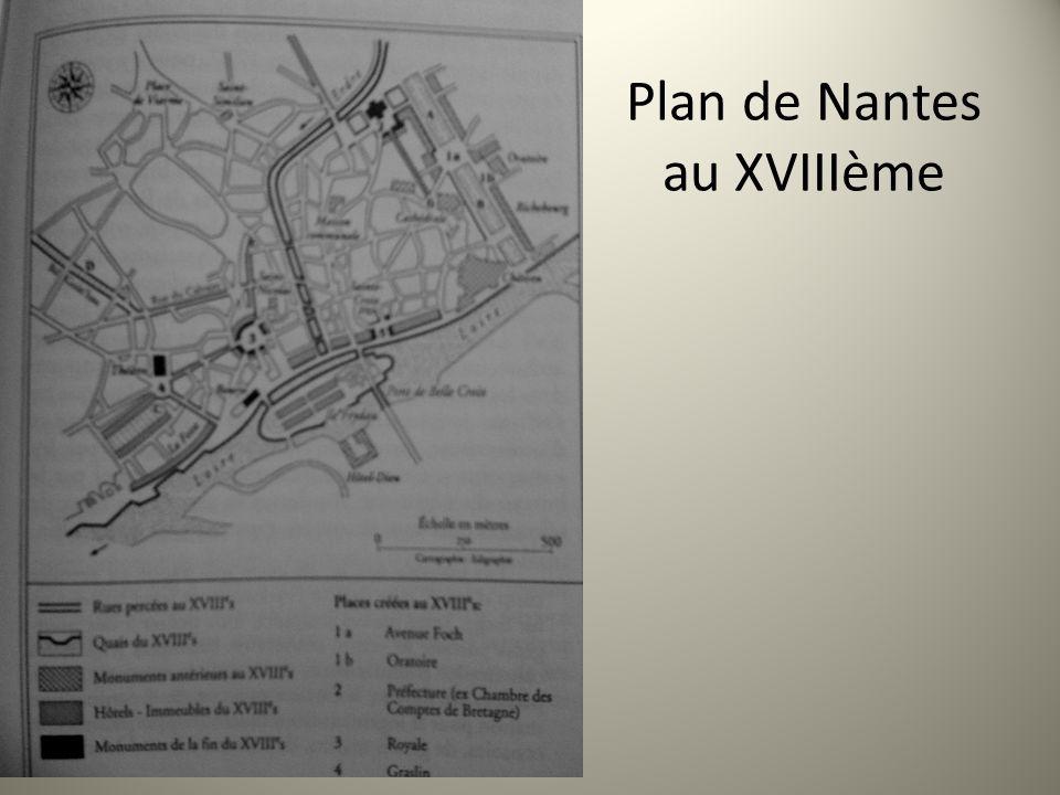 Plan de Nantes au XVIIIème