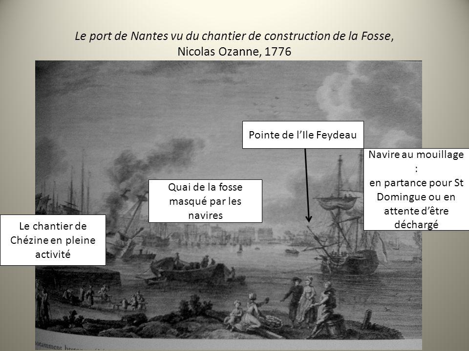 Le port de Nantes vu du chantier de construction de la Fosse, Nicolas Ozanne, 1776