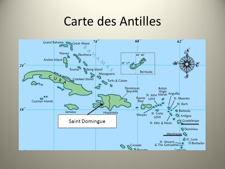 Carte des Antilles Saint Domingue