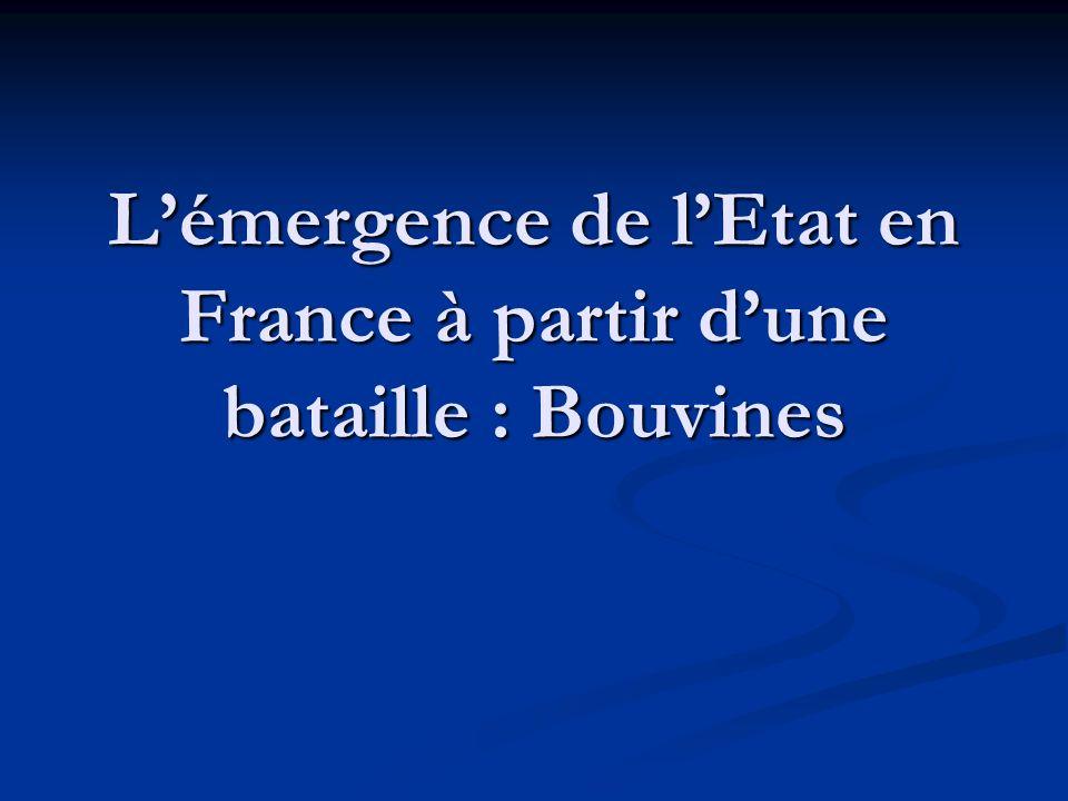 L'émergence de l'Etat en France à partir d'une bataille : Bouvines