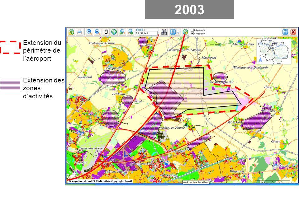2003 Extension du périmètre de l'aéroport