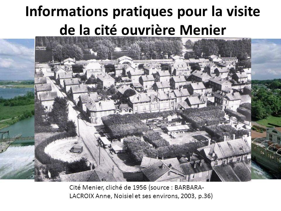 Informations pratiques pour la visite de la cité ouvrière Menier