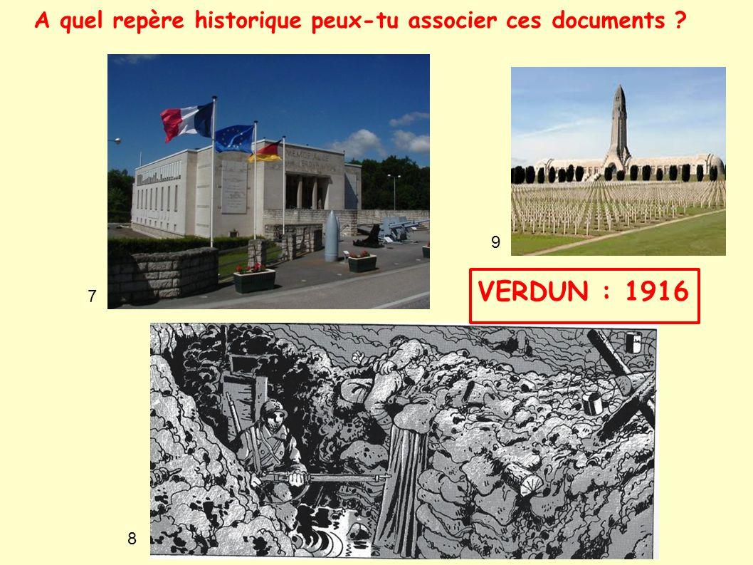 A quel repère historique peux-tu associer ces documents