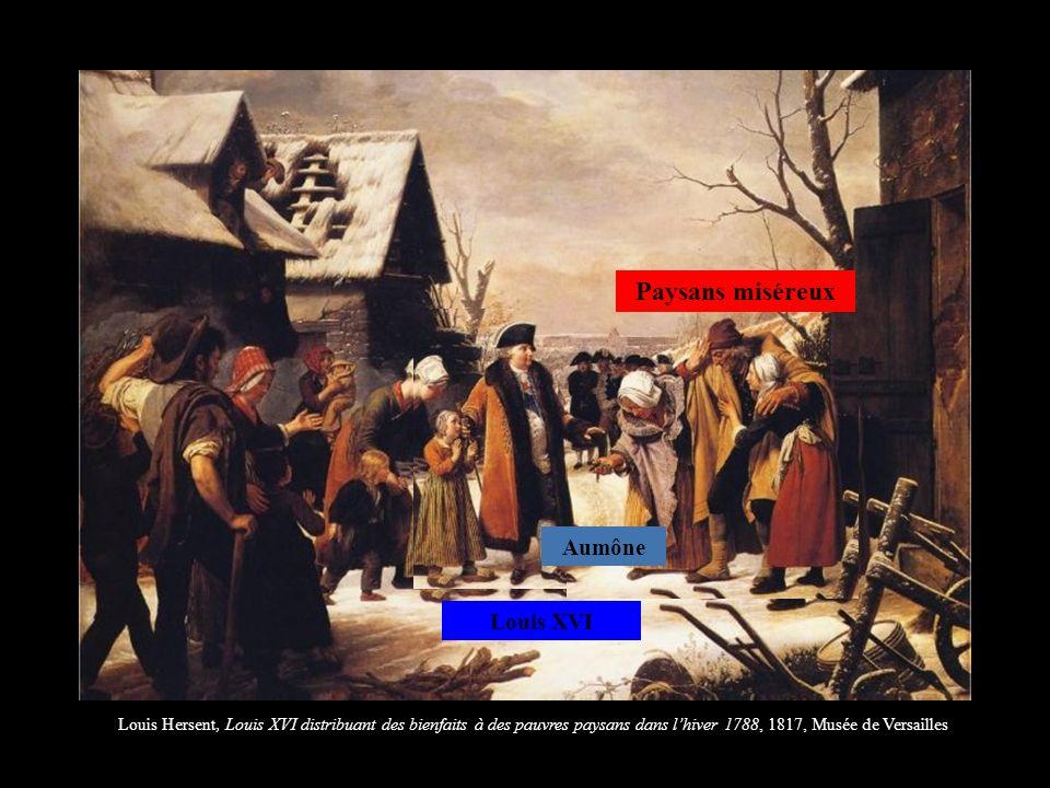 Paysans miséreux Aumône Louis XVI