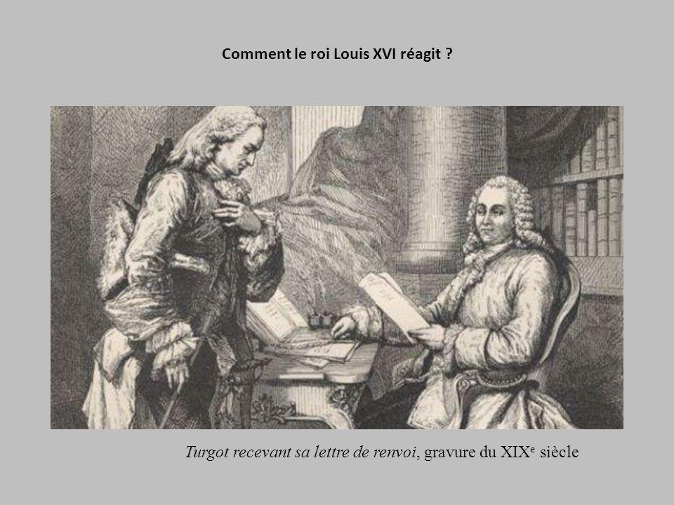 Comment le roi Louis XVI réagit