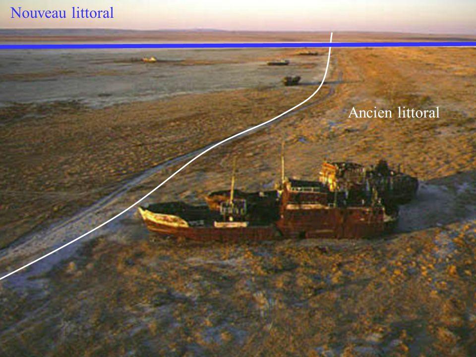 Nouveau littoral Ancien littoral