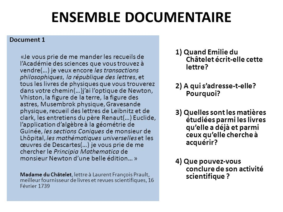ENSEMBLE DOCUMENTAIRE