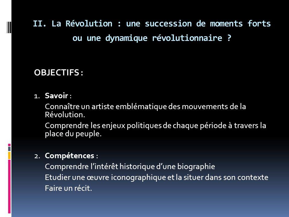 II. La Révolution : une succession de moments forts ou une dynamique révolutionnaire