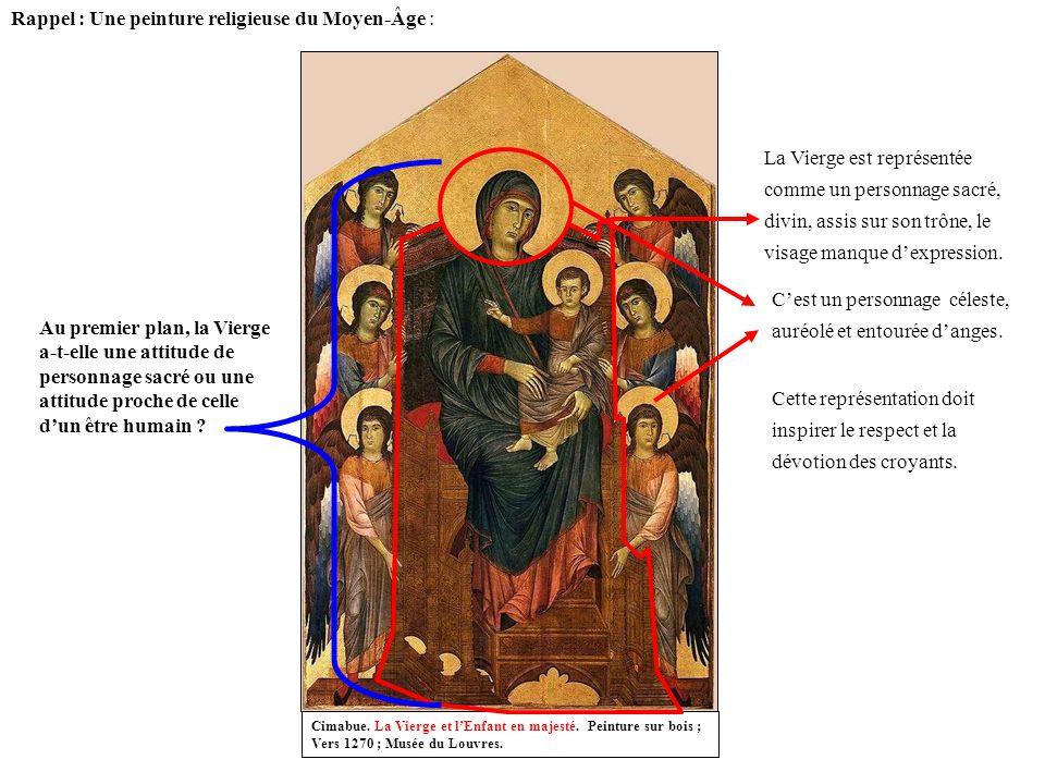 Rappel : Une peinture religieuse du Moyen-Âge :