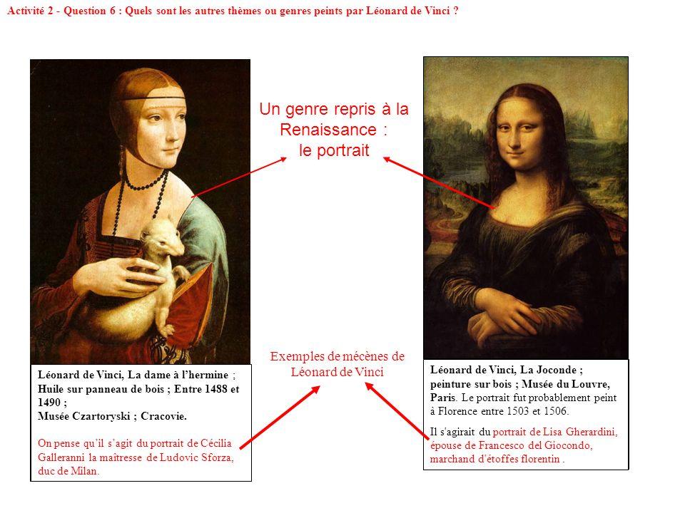 Un genre repris à la Renaissance : le portrait