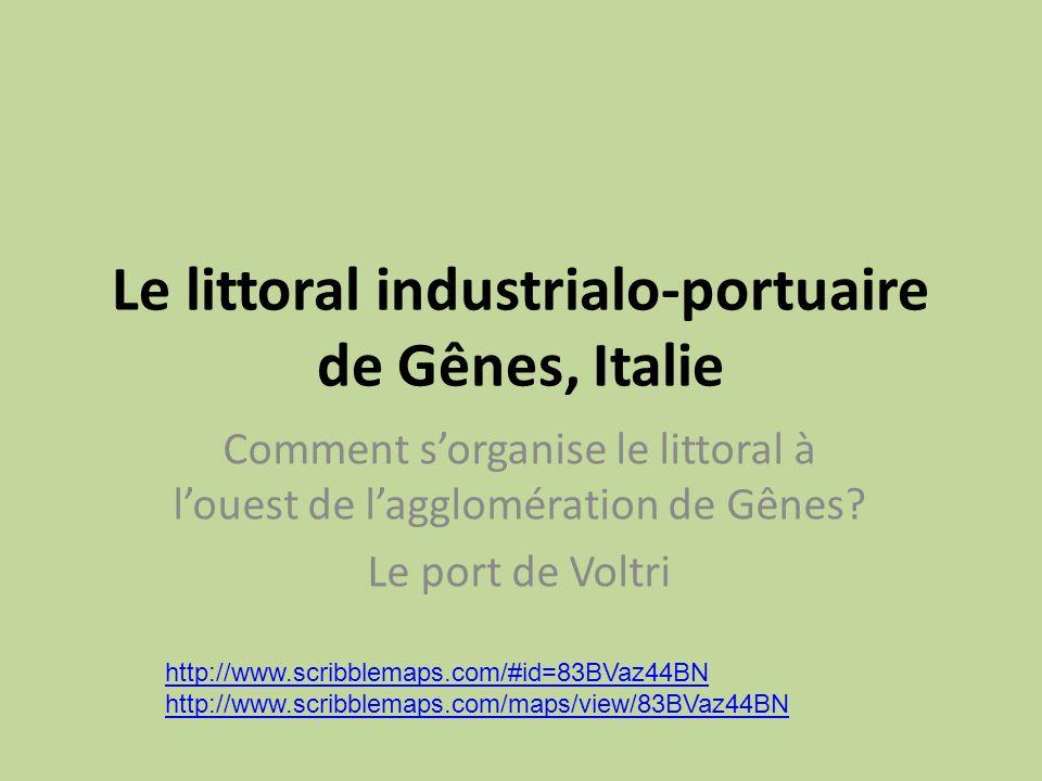 Le littoral industrialo-portuaire de Gênes, Italie