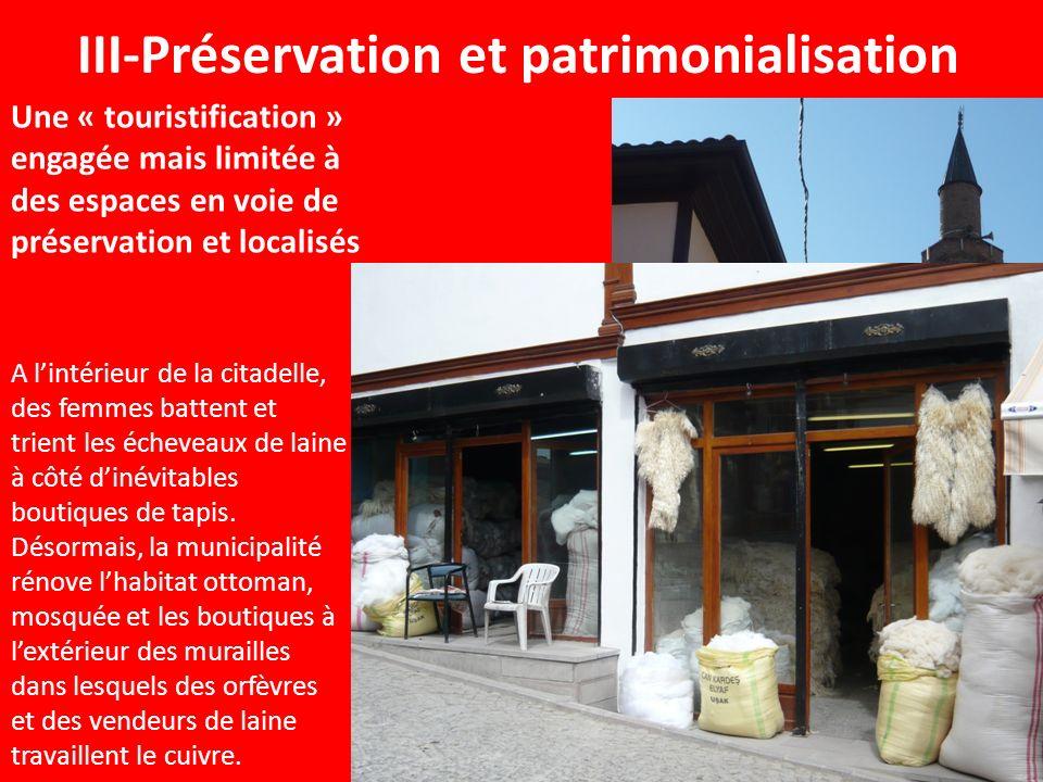 III-Préservation et patrimonialisation