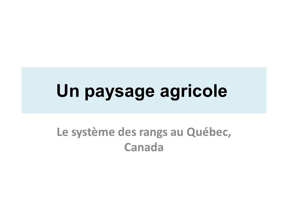 Le système des rangs au Québec, Canada